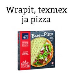 Wrapit, texmex ja pizzat