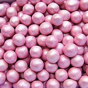QS Ingredients Helmiäishohtoinen sokerihelmi 6 mm pinkki