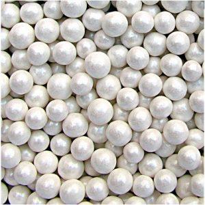 QS Ingredients Helmiäishohtoinen sokerihelmi 6 mm valkoinen