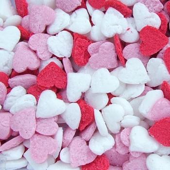 QS Ingredients Syötävät sydämet punainen, valkoinen ja pinkki