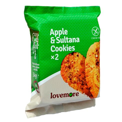 Lovemore, Annospakattu omena-rusina keksi
